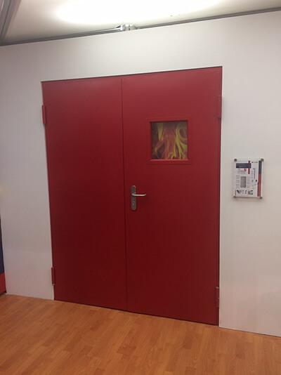 puerta contra incendios
